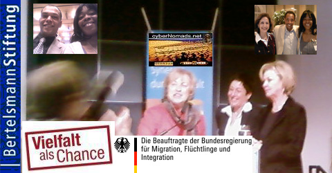 AFROTAK cyberNomads as Guest at Bertelsmannstiftung Vielfalt als Chance German Cmpanies are afraid to integrate Hw to overcome Structural difficulties and xenophobia in Germany Afro Deutsch Black
