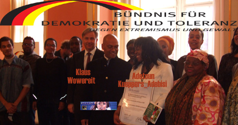 AFROTAK cyberNomads @ Rote Rathaus Berlin Award Reception with the Mayor Klaus Wowereit of the City of Berlin
