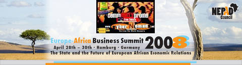 NEPAD Europe Africa Business Summit Black Business Germany Afrika Deutschland Black German Afro Deutsch Black Politics AFOTAK cyberNomads as representatives